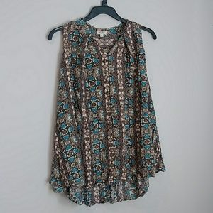Umgee Sleeveless Blouse S
